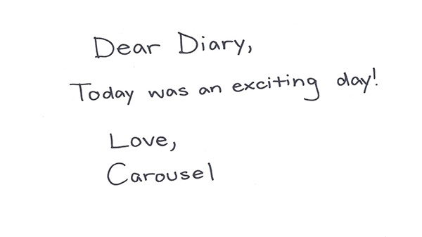 Dear diary...