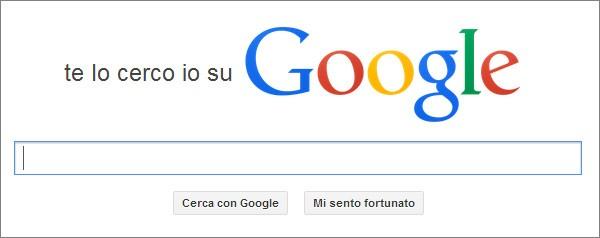 """Homepage del sito """"Let Me Google That For You"""", in italiano """"Te lo cerco io su Google"""""""
