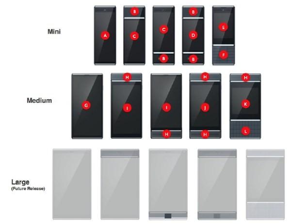 Le tre dimensioni previste da Google per gli smartphone del Project Ara