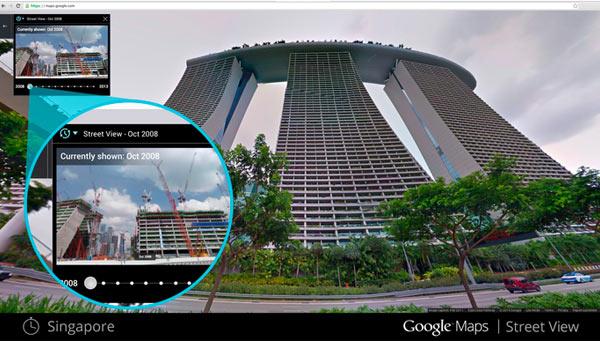 Per poter vedere l'immagine corrispondente ad un determinato periodo basta fare click sull'icona a forma di orologio posizionata in alto a sinistra nella schermata di Street View
