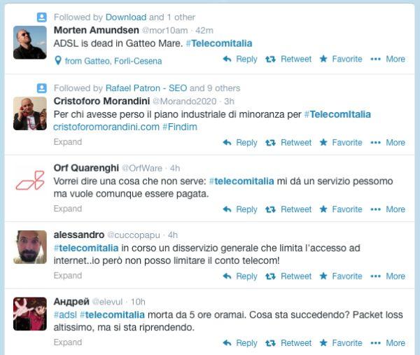 Blackout ADSL Telecom Italia