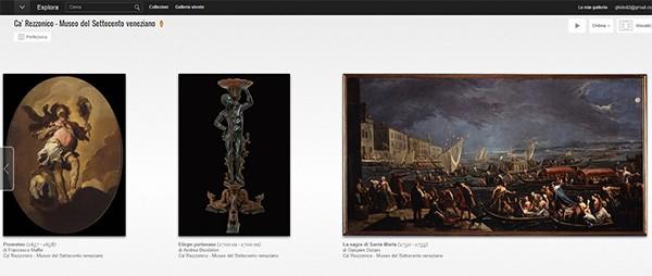 La collezione di  Ca' Rezzonico, Museo del Settecento Veneziano, su Google Art Project