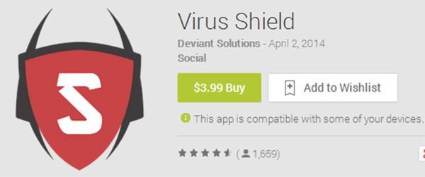 Virus Shield, l'applicazione comparsa nelle scorse settimane su Google Play