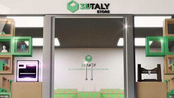 L'ingresso dello store 3DiTALY