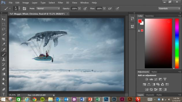 La versione di Photoshop CC ottimizzata per Surface Pro 3.