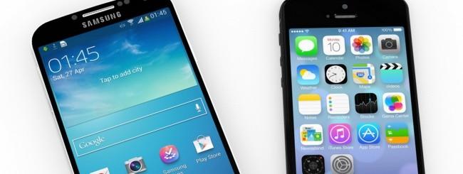 Smartphone Samsung e Apple