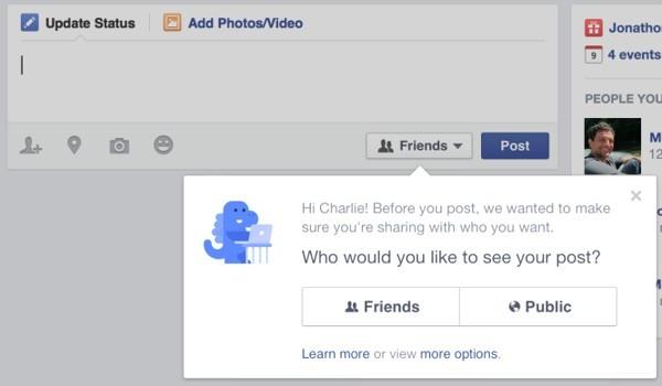 Nuove impostazioni privacy Facebook