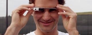 Roger Federer con Glass
