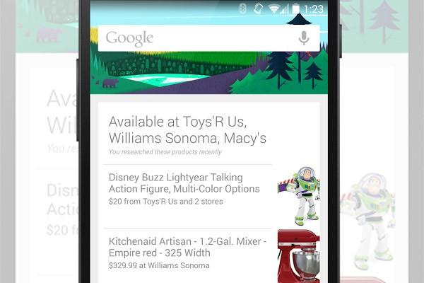 L'assistente Google Now segnala i negozi nelle vicinanze dove è possibile acquistare i prodotti cercati online