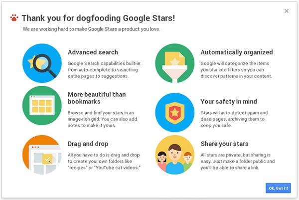 Screenshot per Google Stars