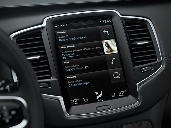 Touchscreen di bordo su Volvo XC90