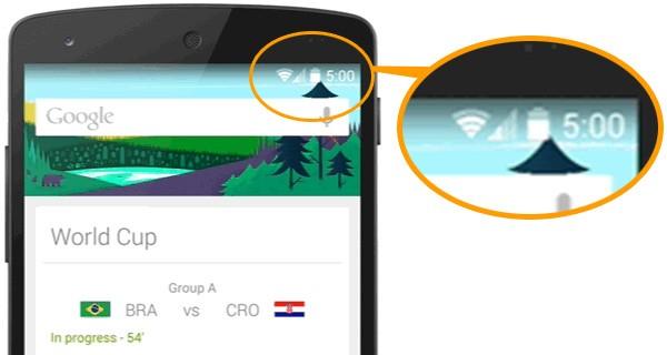 Il post di Google sui mondiali di calcio suggerisce con un'immagine l'arrivo del sistema operativo Android 5.0