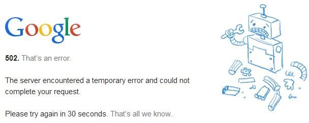 Google Drive - Errore 503