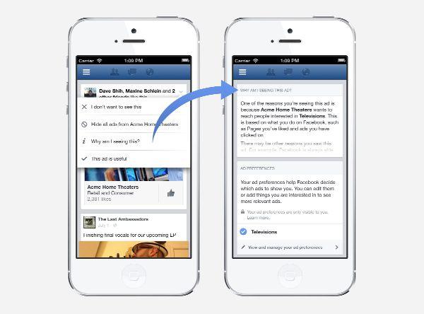 Facebook strumento Ad Preferences