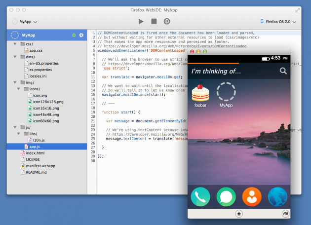 L'ambiente di sviluppo che verrà integrato in Firefox 33.