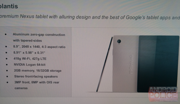La presunta immagine del Nexus 9 e le specifiche del nuovo tablet HTC
