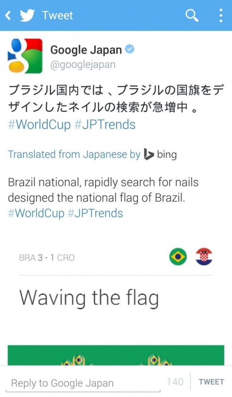 Traduzione dei tweet con Bing.