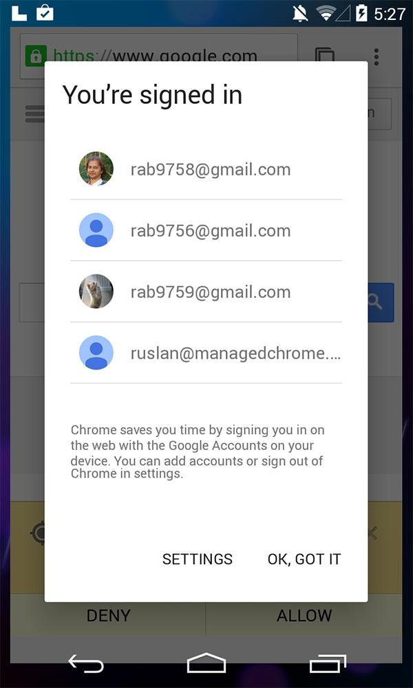 """Uno dei primi screenshot per la """"L release"""" di Android"""