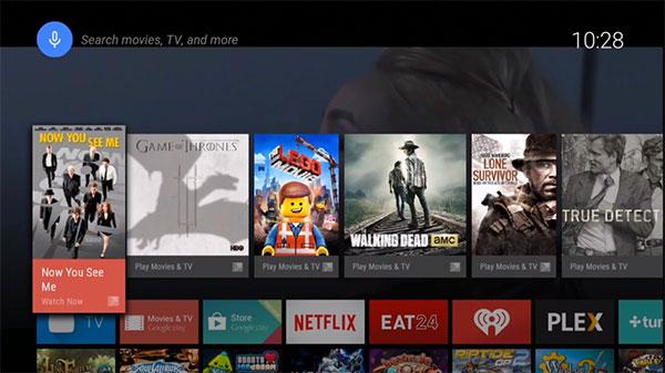 L'interfaccia di Android TV
