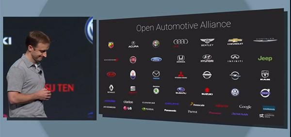 I partner del progetto Open Automotive Alliance confermati da Google all'evento I/O 2014