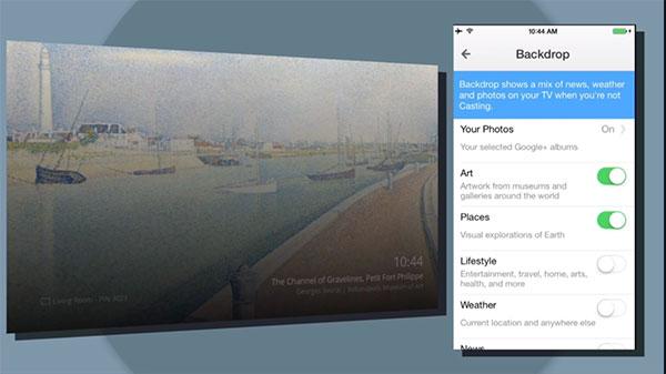 La feature Backdrop permetterà di personalizzare la schermata principale di Chromecast