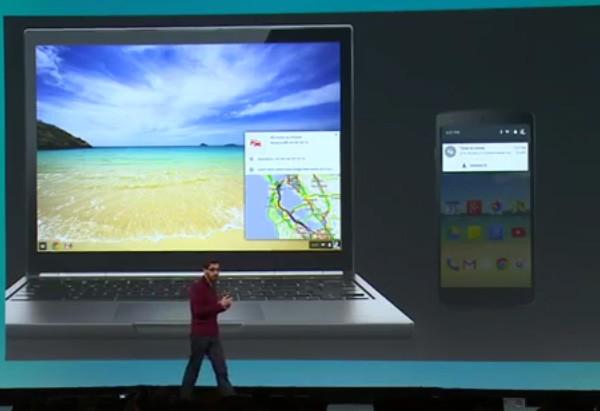 Le notifiche di Android visualizzate nell'interfaccia di Chrome OS, sui laptop Chromebook