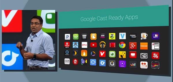 Una parte delle applicazioni compatibili con Chromecast