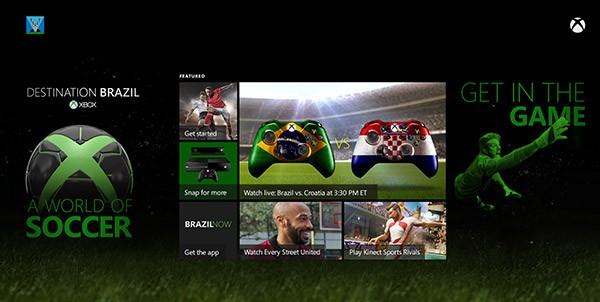 L'interfaccia di Destination Brazil su Xbox One