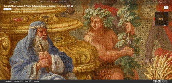 """Dettaglio dell'opera ripresa in Gigapixel """"Carosello a Palazzo Barberini in onore di Cristina di Svezia, nel Carnevale del 1656"""""""