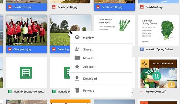 La nuova versione Web di Google Drive semplifica l'esecuzione dei comandi su più file in contemporanea