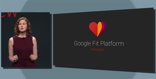 L'annuncio della piattaforma Google Fit dal palco dell'evento I/O 2014