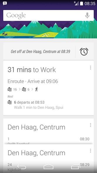 Google Now avvisa l'utente quando si è in prossimità della fermata in cui scendere sui mezzi pubblici