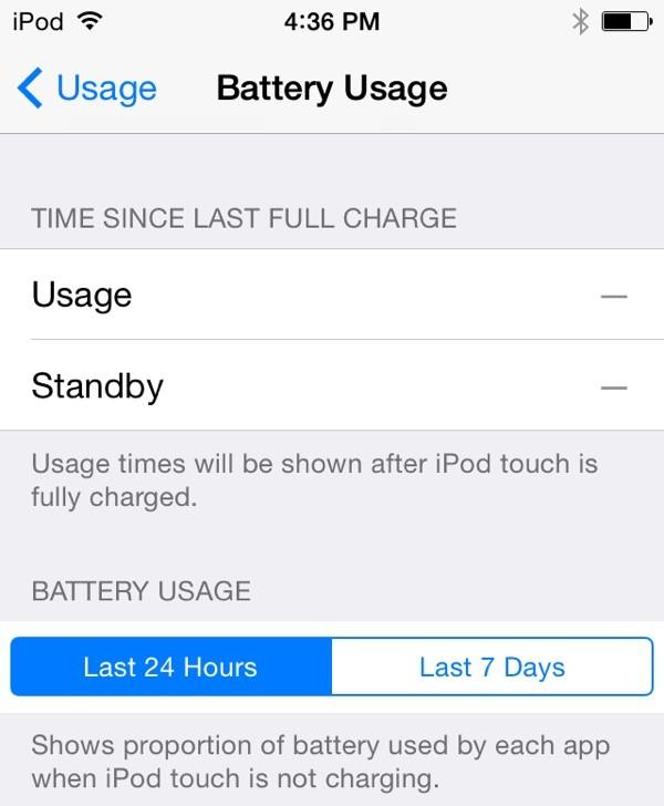 iOS 8 e uso della batteria