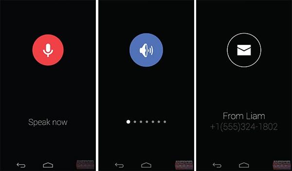 Mock-up per la UI dell'interazione con Google KITT attraverso comandi vocali