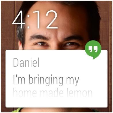 Anche uno screenshot pubblicato da Google e relativo all'interfaccia di Android Wear contiene un riferimento diretto al nome Lemon Cake