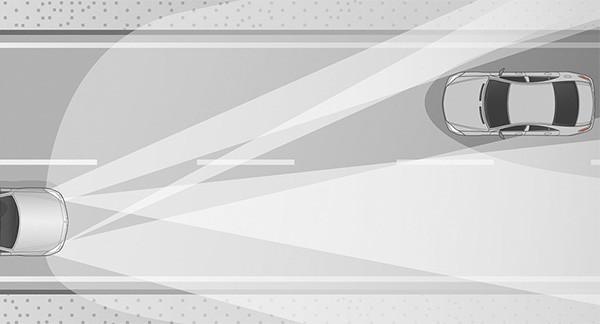 I fari con tecnologia MULTIBEAM LED di Mercedes-Benz permettono di mantenere attivi gli abbaglianti senza dare fastidio alle auto che provengono dal senso di marcia opposto