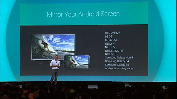 I primi dispositivi Android che supporteranno il mirroring del display su Chromecast