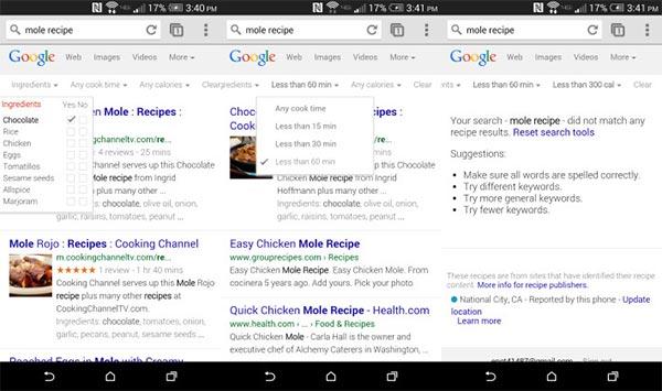 Il nuovo strumento di ricerca messo a disposizione da Google su smartphone e tablet Android, per trovare le ricette in base agli ingredienti disponibili