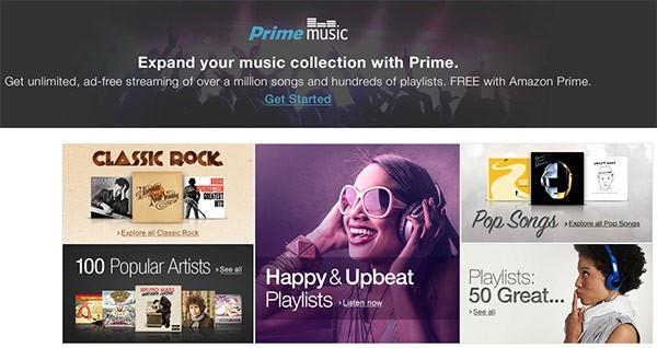 Amazon ha lanciato oggi il servizio musicale Prime Music, gratis per gli iscritti al programma Prime (al momento solo negli USA)