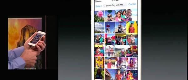 Rullino fotografico, iOS 8
