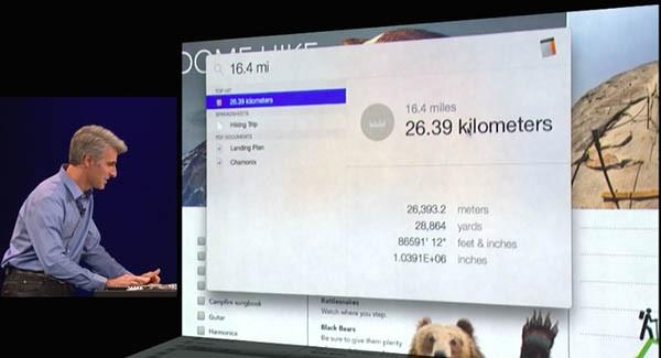 OS X Yosemite, Spotlight