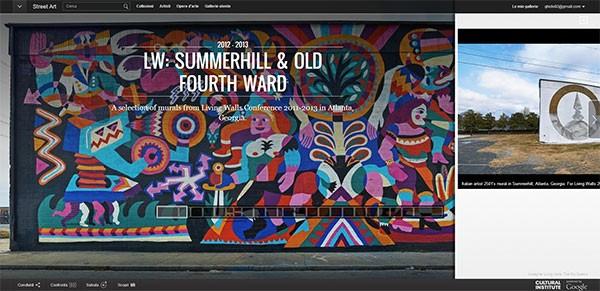 La sezione del Google Cultural Institute dedicata alla street art