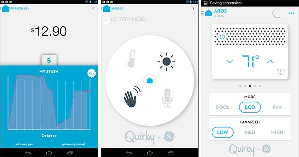 Screenshot per la versione Android dell'app Wink