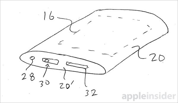 Brevetto Apple che mostra un eventuale futuro dispositivo tutto in vetro