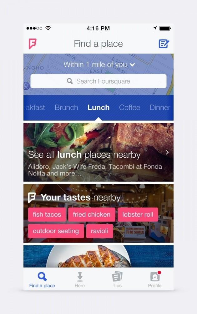 Foursquare 8.0 per iPhone