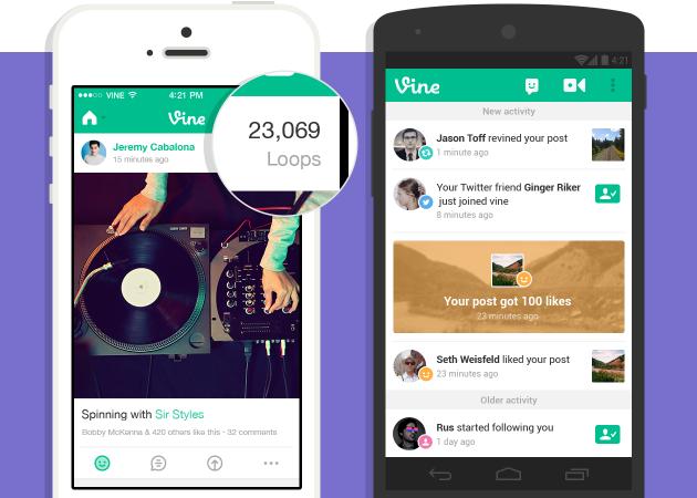 Conteggio dei loop e notifiche su iOS e Android.