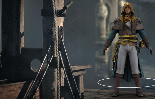 L'assassino creato con l'editor di Assassin's Creed Unity