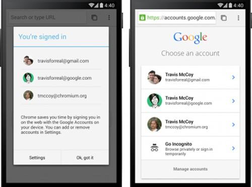La gestione di più account Google è stata semplificata con l'aggiornamento introdotto dall'applicazione Chrome Beta per smartphone e tablet Android