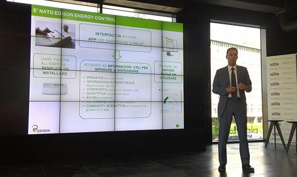 Alessandro Zunino, amministratore delegato di Edison Energia, presenta la piattaforma Energy Control