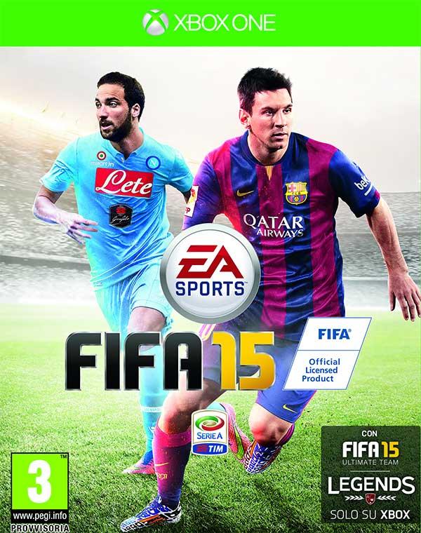 """""""El Pipita"""" Higuain e Leo Messi sulla copertina italiana di FIFA 15"""